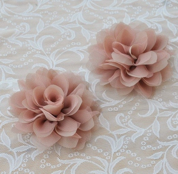 Making Fabric Flowers Wedding: Chiffon Fabric Flowers Bridal Hair Flowers By Lacefabricstore