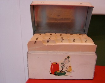 1930's Recipe Box with ABC Index Cards