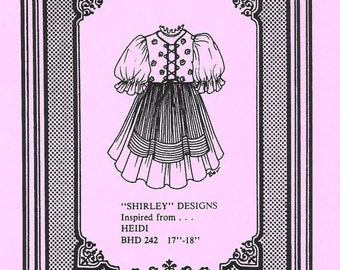 HEIDI Pattern inspired from the Original Shirley Temple Doll 1950s