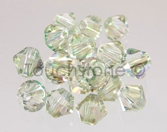 4mm Crystal Celadon Coated Swarovski Crystal Bicone Beads 72 Beads  #45-1199