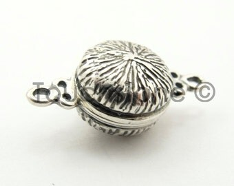 10mm Silver Fancy Magnetic Clasp Closure