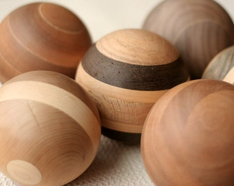"Solid Wood Ball - 4"" Diameter and Perfect for Home Decor - Reclaimed Woods"