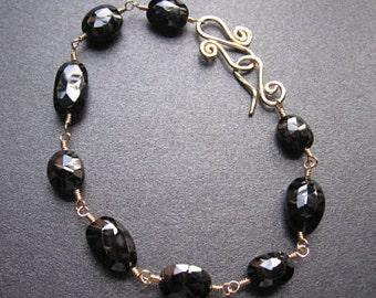 Linked black spinel Bracelet 23