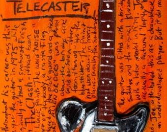 Joe Strummer Fender Telecaster electric guitar art print