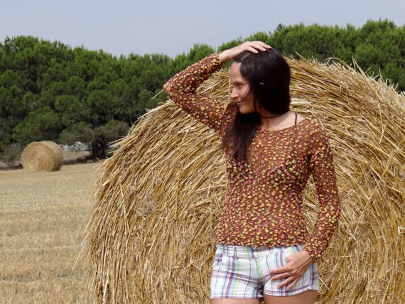 Creative knitted handmade multi-color jumper