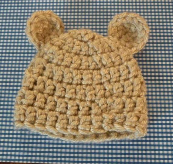 Teddy Bear Newborn Hat