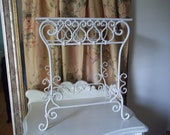 Reserved for Peggy Only.....Vintage Shabby Chic  Wrought Iron Fancy Scroll White Table