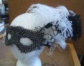 100% Cruelty Free  - Mardi Gras Feathered Party Mask - Feathered Masquerade Ball