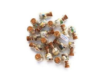 Mermaid Treasure, Sea Glass, Beach Glass, Sea Shells, Mermaid Party Favors, beach finds, tiny jars, Sea Shell, Beach Treasures