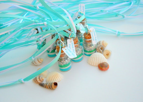 Mermaid  Necklaces,  Mermaid Party Favors, blue, green, silver, Teal, Aqua, Mint