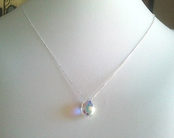 Swarovski Crystal Aurore boreale Necklace - bridesmaid gifts,every day jewelry,flower girl,anniversary gift