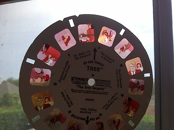 1977 GAF Viewmaster 3D Reels SPIDERMAN Thor Iron Man CAPTAIN America