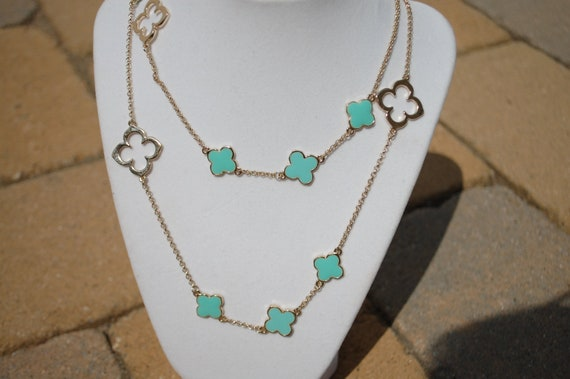 Clover Turquoise Necklace