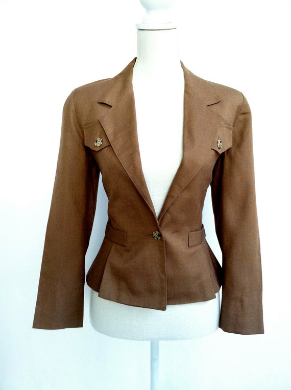 SALE 30% OFF Sexy Brown Blazer / Size 6 / Business Casual / Long Sleeve