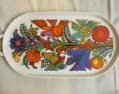 vintage villeroy and boch acapulco pattern oval ceramic tray