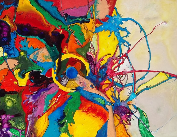 P1 - Abstract Expressionism Postcard for Postcrossing