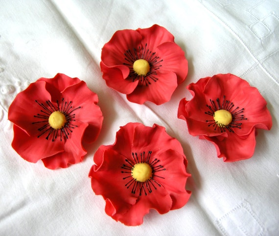 how to make flower paste poppies