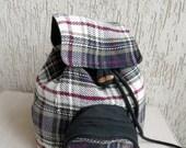 Vintage Very Cute Plaid Backpack