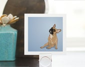 Mini Print - French Bulldog - Illustrated Print - 3x3 Archival Matte
