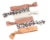 Hair Ties set of 6 No Tug Animal and solid print hair tie collection