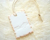Shabby chic Wedding Clay Tags ,Thank you  Clay Tags,Vintage Shower tags,Vintage favor