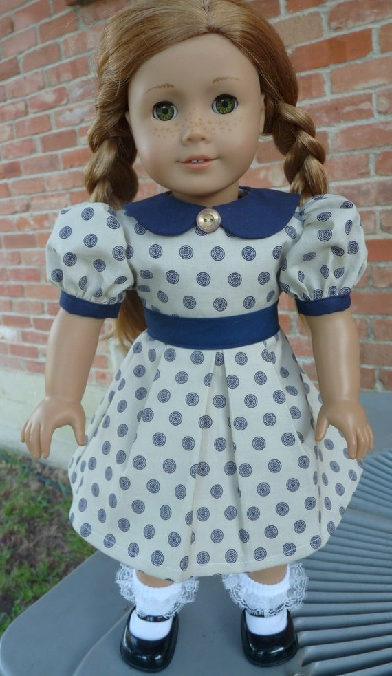 """18"""" Doll clothes 1930's, 1940's Style School Dress Fits American Girl Kit, Ruthie, Molly,Emily"""