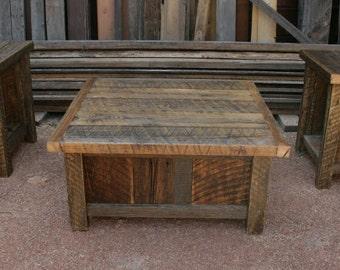 Reclaimed Barnwood Rustic Coffee & End Table Set