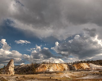 """Mammoth Hot Springs in Yellowstone National Park 8""""X12"""" photograph."""