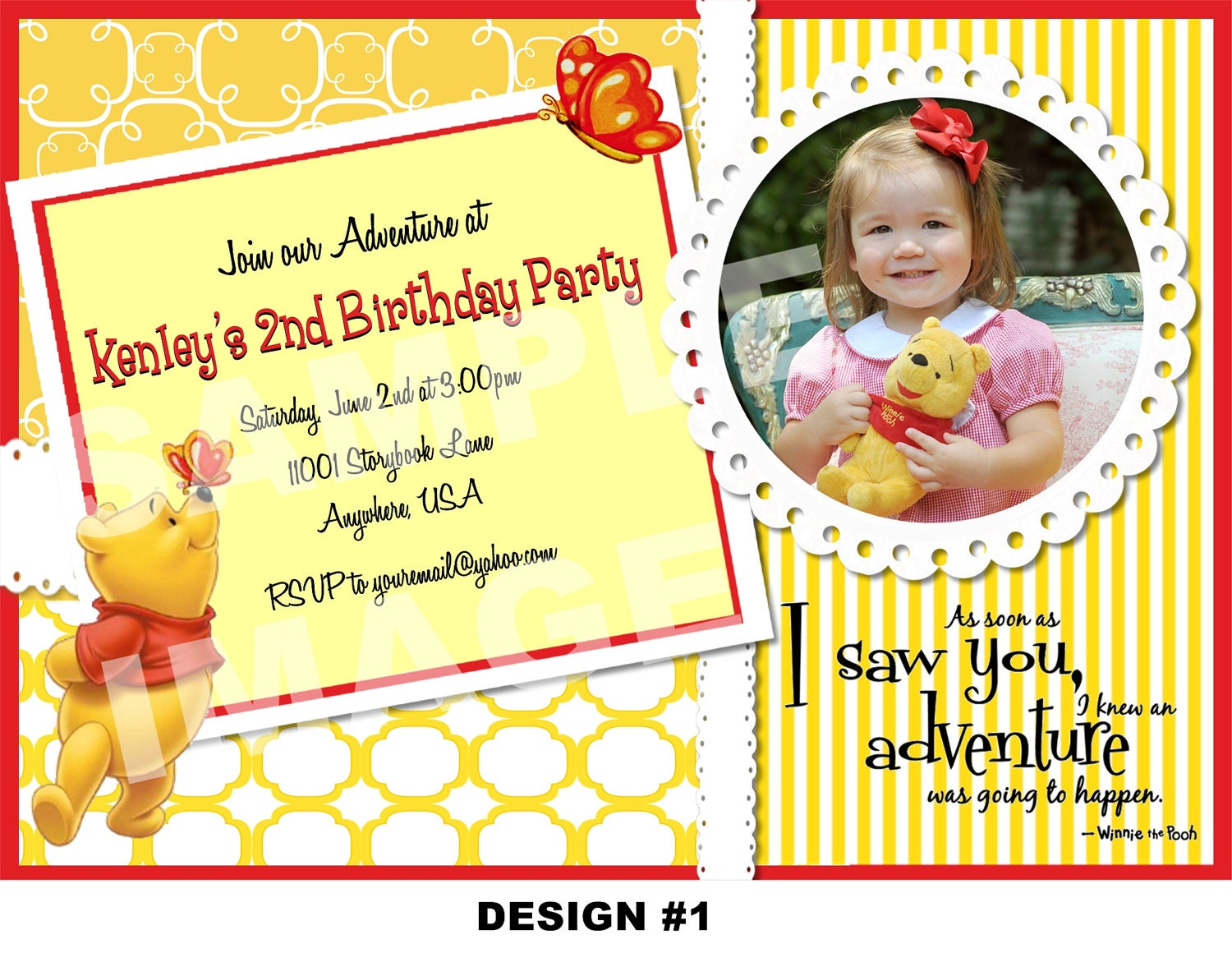 Winnie The Pooh St Birthday Invitation Templates Images - Birthday invitation templates winnie pooh