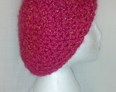 "Super Soft Lion Brand Homespun ""Tulips"" Crochet Slouchy Beanie Adult Size"