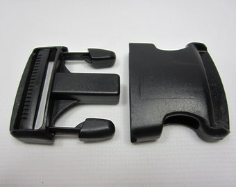 """2"""" Side Closures - in black packaged 6 to a bag"""