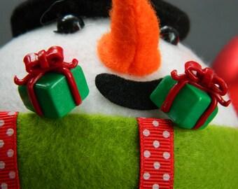 Christmas Present studs