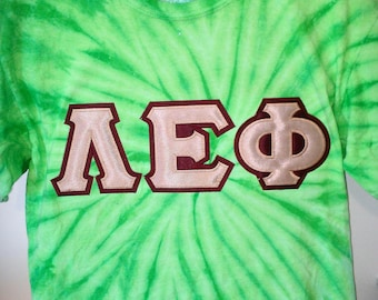 Greek Letter Cyclone Tie Dye TShirt