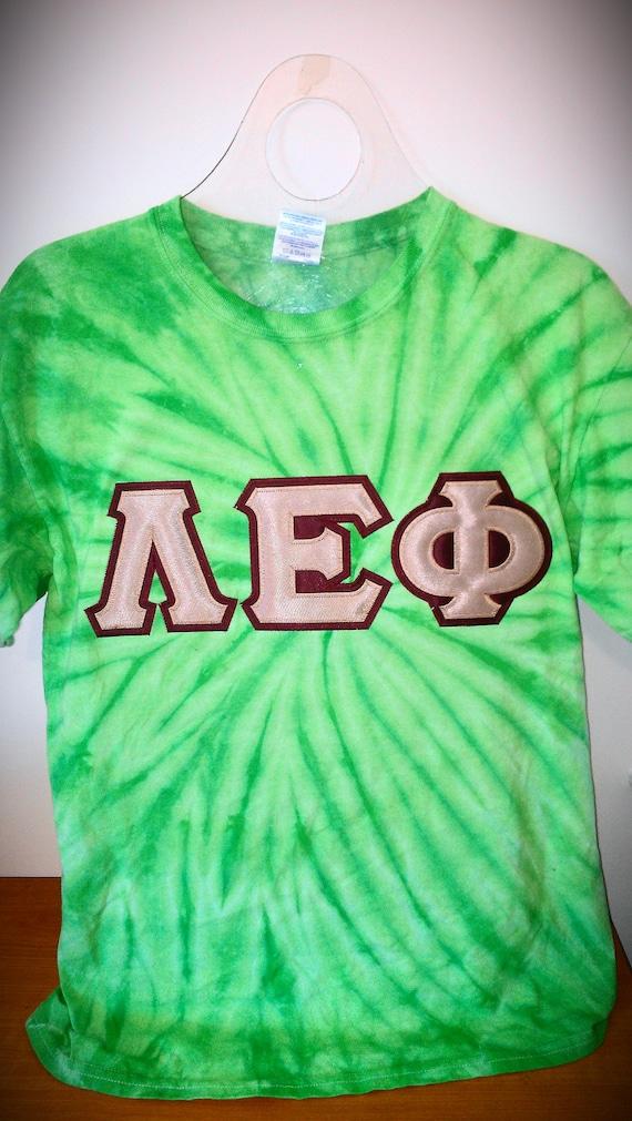 Greek letter cyclone tie dye tshirt for Cute greek letter shirts