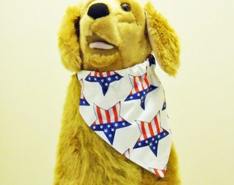 4th of July Pet Bandana Stars and Stripes Size Large