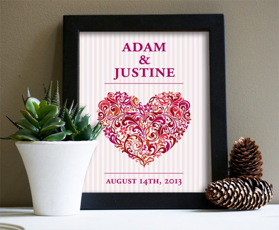 Personalised Wedding Gift Art : ... Gifts Guest Books Portraits & Frames Wedding Favors All Gifts