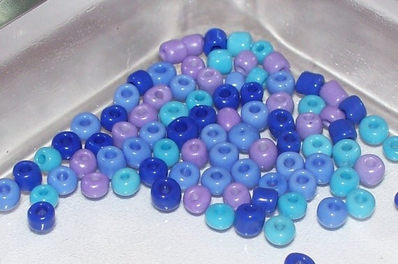 Seed Beads 6/0 - Mixed color Seed Beads - 1.4oz
