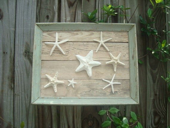 Framed Starfish Wall Decor