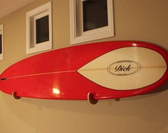 Surfboard Hooks - Gloss Chesnut Finish