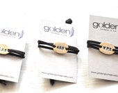 Grooms Men Gift Set - Six Personalized Gold or Silver Bracelets - Customizable - On Sale - Free Shipping