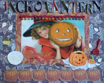 Hallowee Decor: Collage Art (Jack O' Lantern Carving)