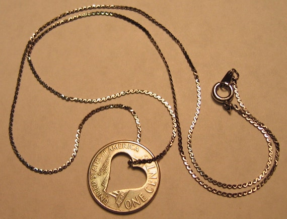 penny for your thoughts, silver-plated penny - sweet16 lucky necklace