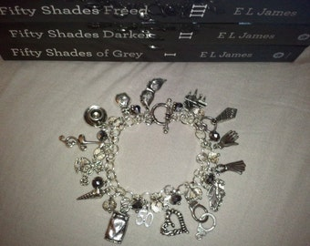 50 Shades of Grey Charm/Gem Bracelet