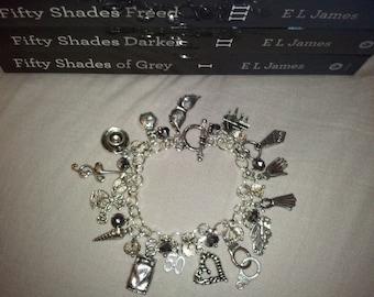 50 Shades of Grey Charm/Gem Bracelet