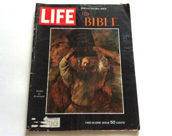 Life Magazine, The Bible Special Double Issue, Vintage Magazine