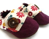 Fall Flowers Baby Sneakers, READY TO SHIP in a size 6-9 mo. and available to order in sizes 0-18 months