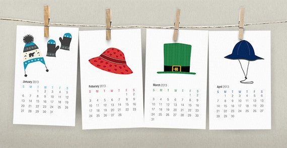 Diy Calendar Free : Wall calendar printable pdf diy illustrated holiday and