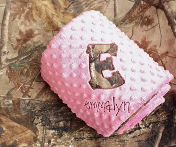 Personalized Baby Blanket - Camo Baby shower gift