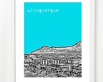 Albuquerque New Mexico Poster - Albuquerque City Skyline Art Print - Albuquerque Gift