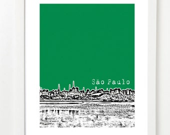 Sao Paulo Skyline Poster - Brazil Art Print - City Skyline Series - South America